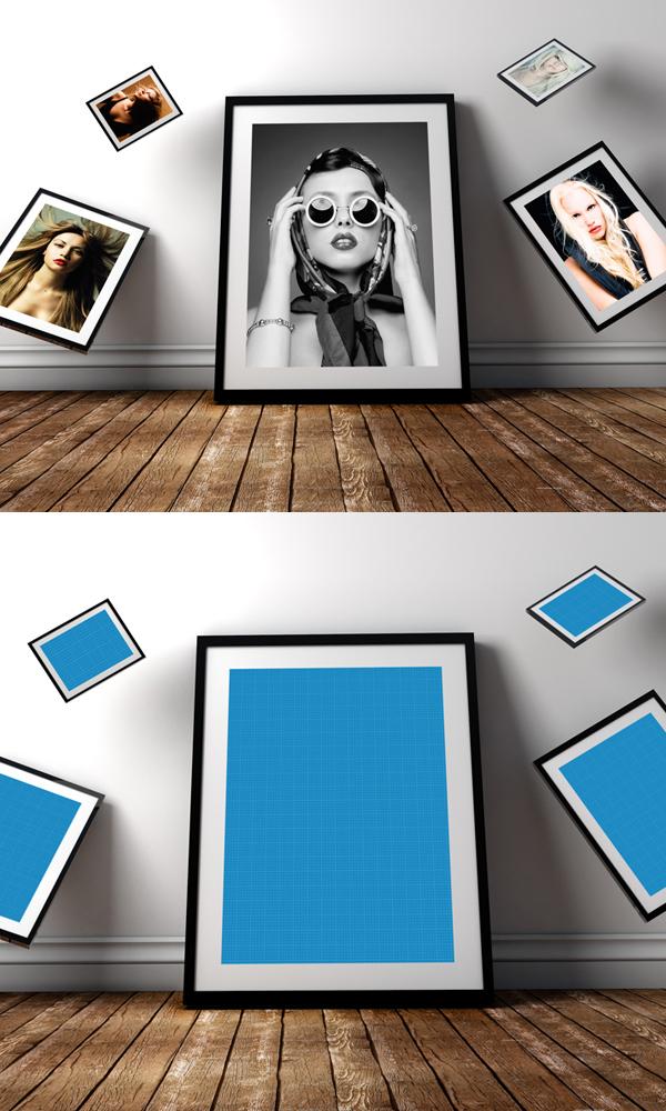 Free Photo Frame PSD Mockup