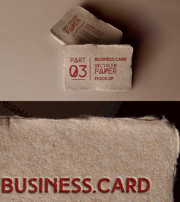 Free Vintage Business Card Mockup