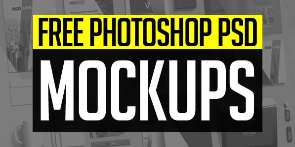 New Free Photoshop PSD Mockups for Designers (26+ MockUps)