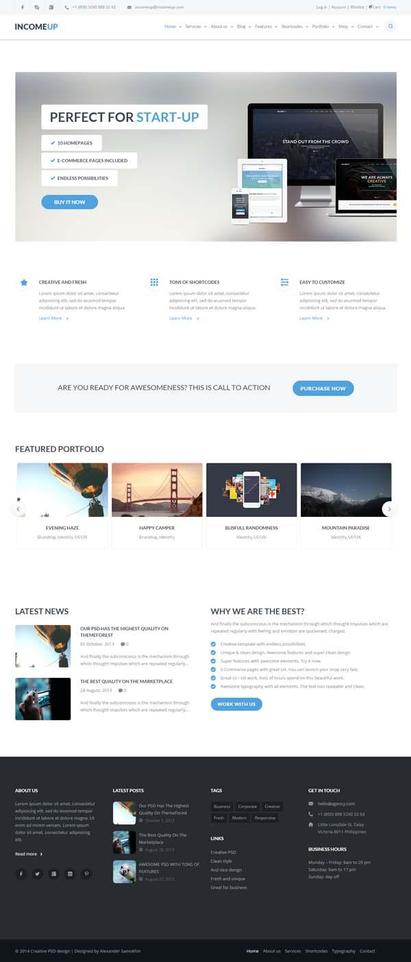 IncomeUp | Multi-purpose Business HTML Template
