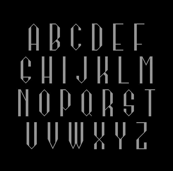 Kagome Font Letters
