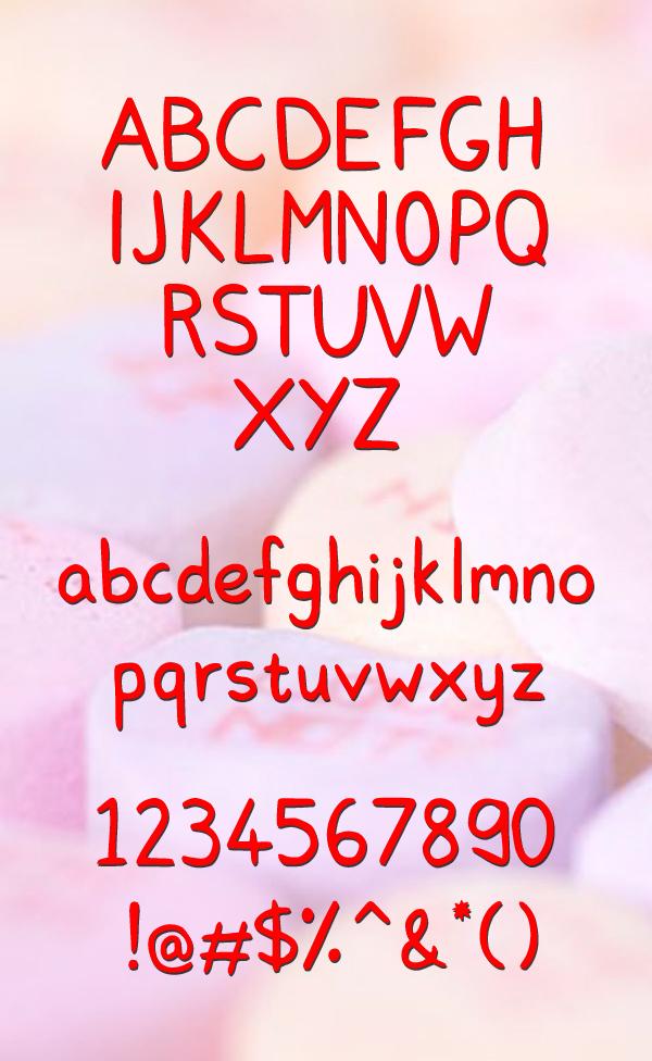 Lovinn Font Letters