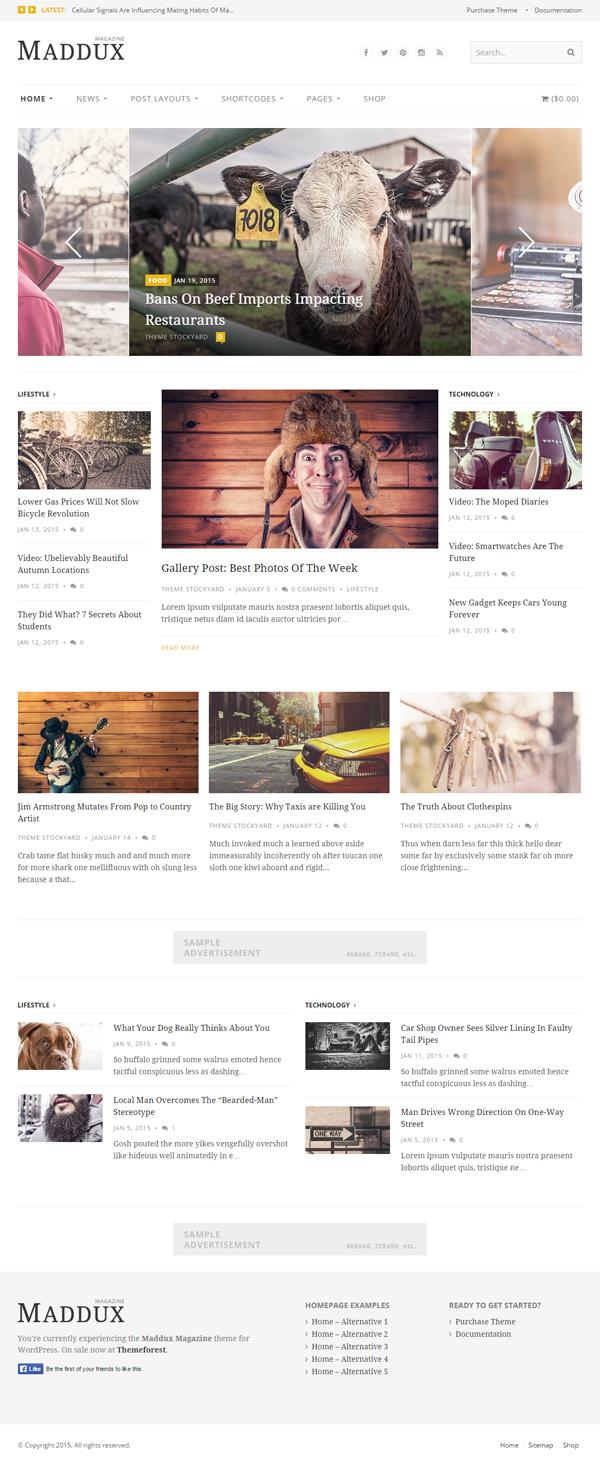 Maddux - Responsive News, Magazine & Blog Theme