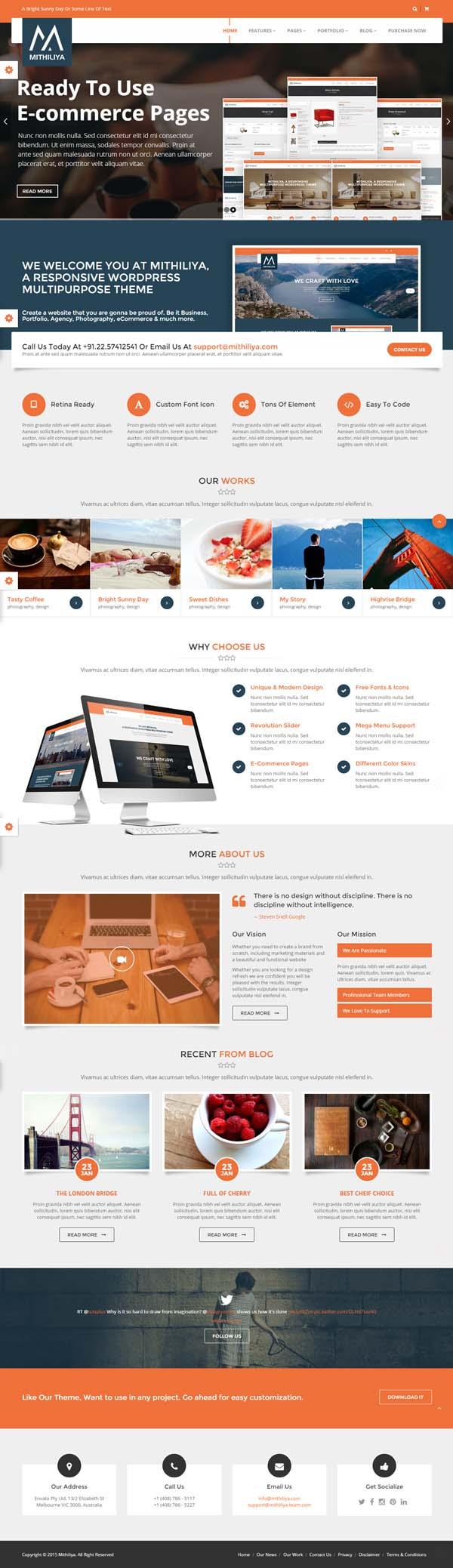 Mithiliya Multipurpose Responsive HTML Template