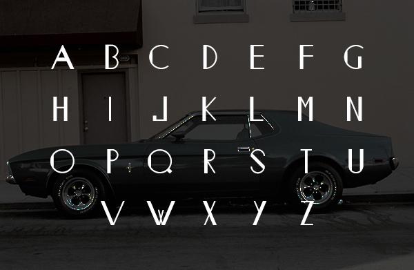 Monastic Pro Font Letters