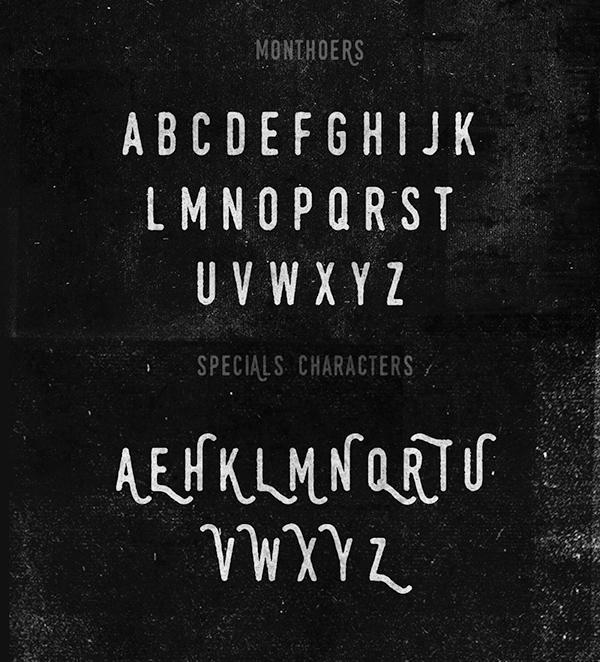 Monthoers Font Letters