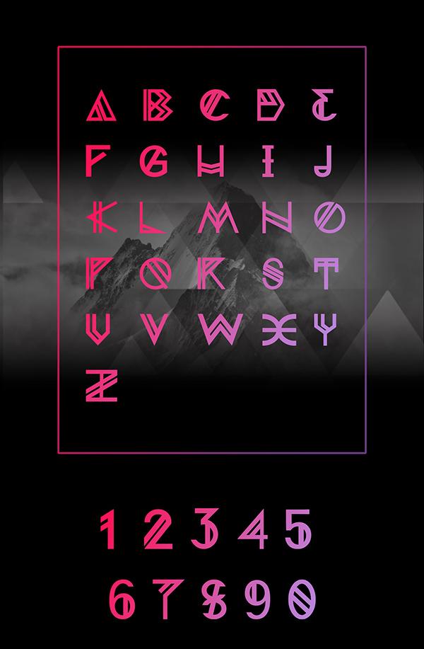 Nordic Font Letters