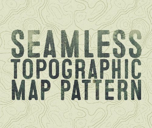 How To Create a Seamless Topographic Map Pattern