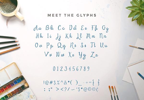 Serendipity Script Font Letters