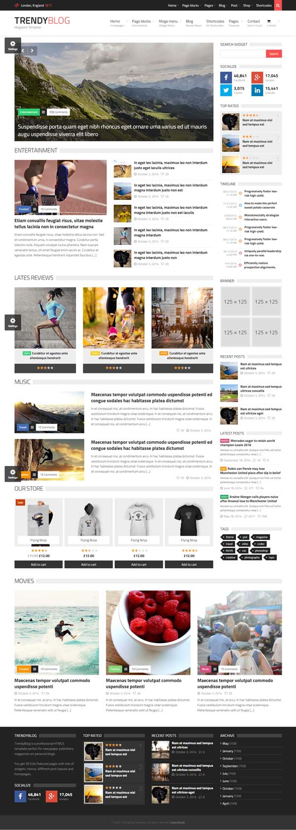 TrendyBlog - Multipurpose Magazine Template