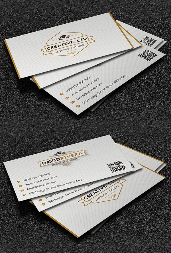 White Creative Business Card