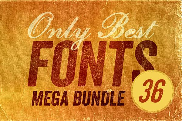 Only Best Fonts Mega Bundle