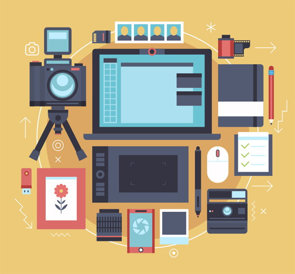 Photographer Flat Workplaces