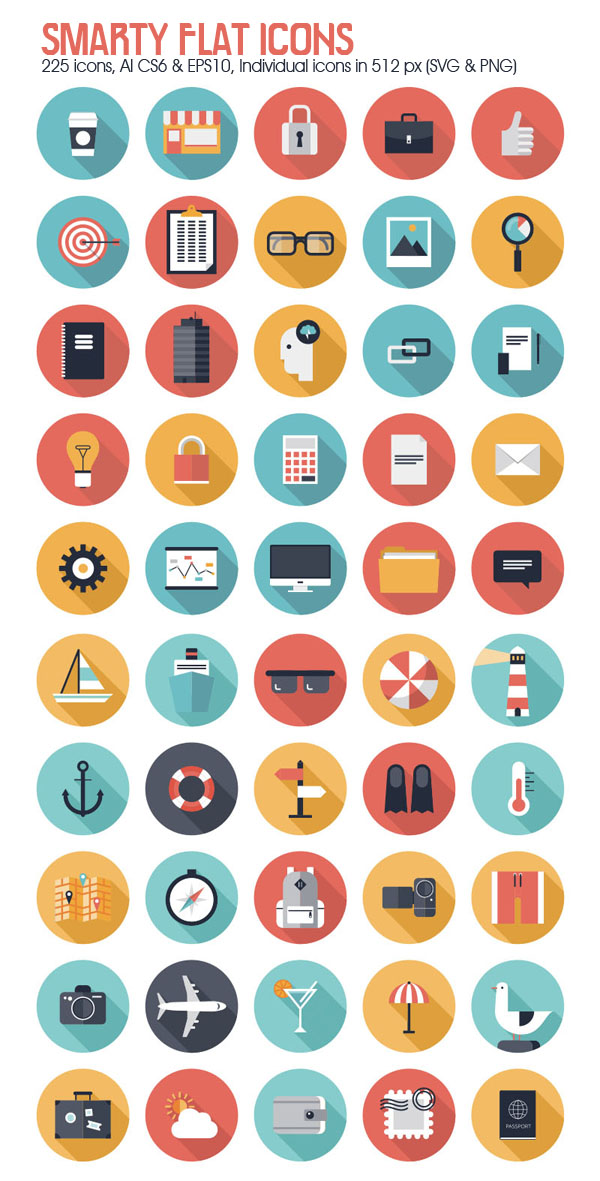 250 Smarty Flat Icons
