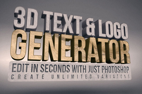 3D Text & Logo Generator