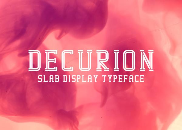 Decurion free font