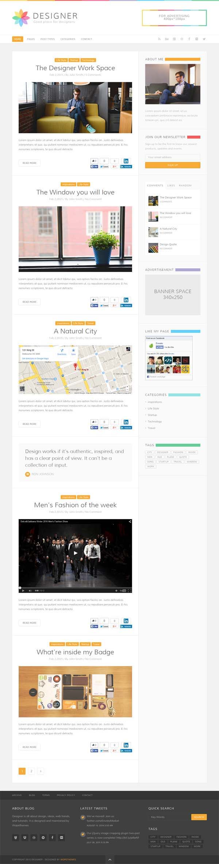 Designer : Blog WordPress Theme