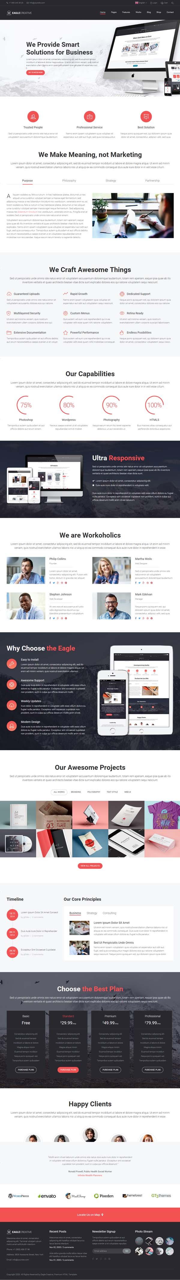 Eagle - Creative Business Website Template