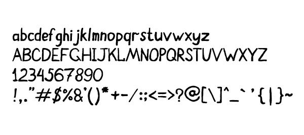Felt Pen Light Font Letters