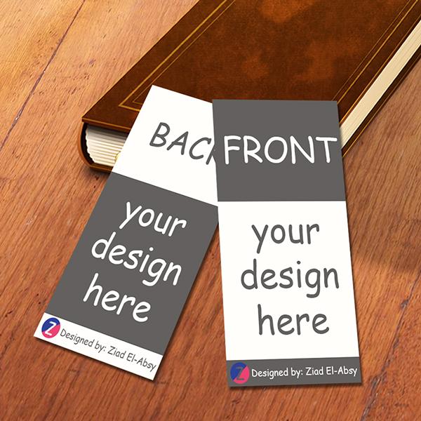 Free Bookmark Mockup Template