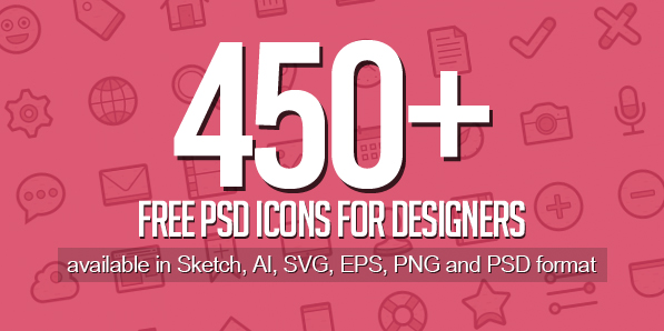 Free PSD Icons: 450+ Icons for Designers