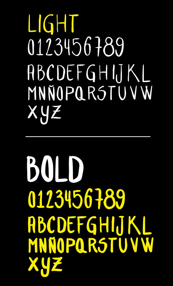Hand Letter Font Letters