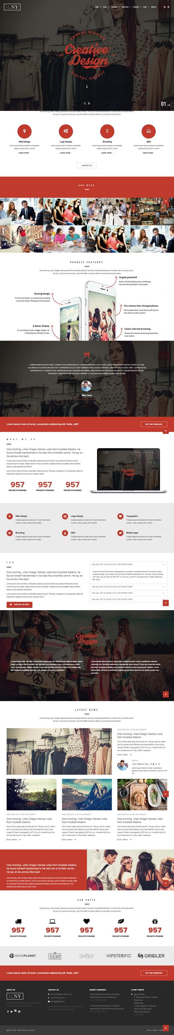 ILNY - Responsive Multi-Purpose HTML Template