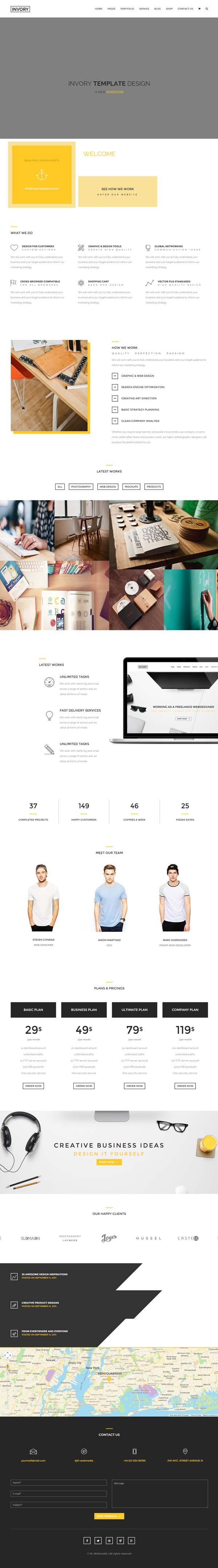 Invory - Multi-Purpose HTML5 Template