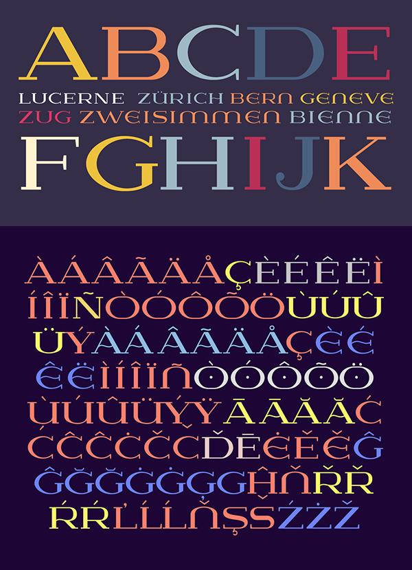 Lausanne Font Letters