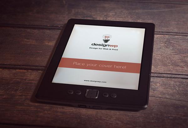 Photorealistic E-Book Reader Free Mockup