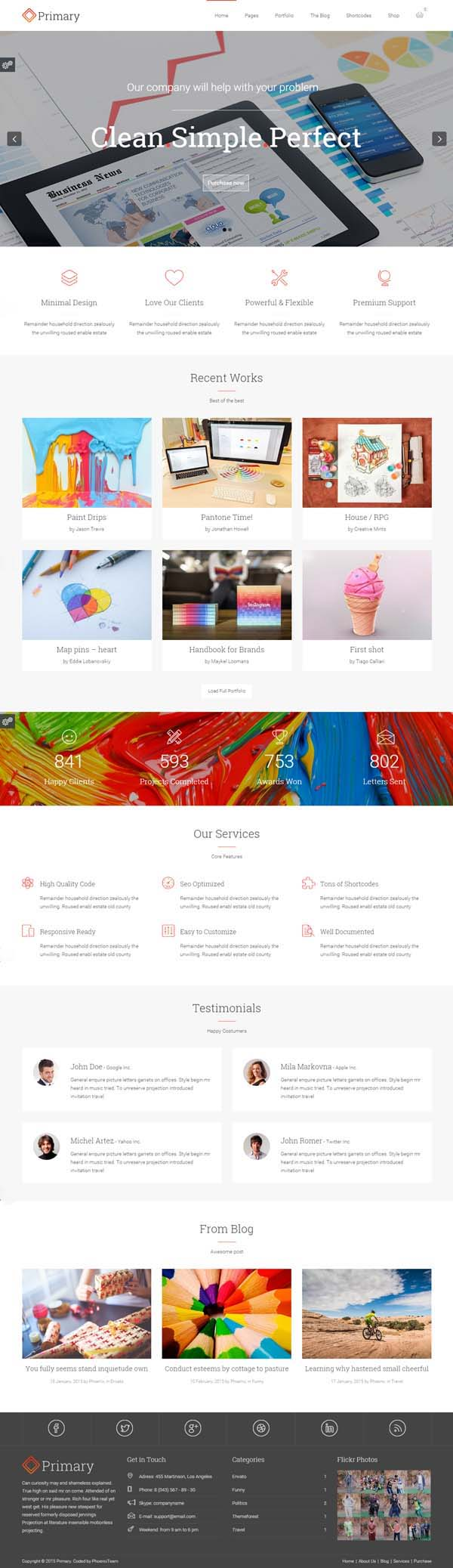 Primary : Premium Business WordPress Theme