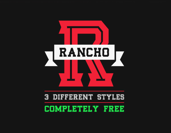 Rancho free font