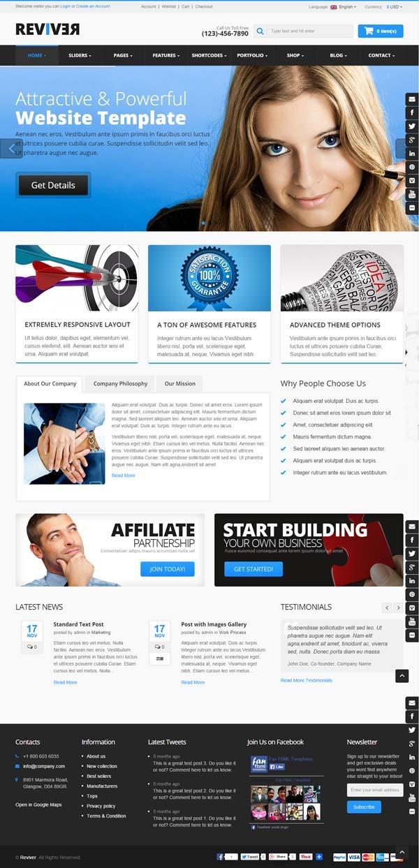 Reviver : Multi-Purpose Responsive WordPress Theme