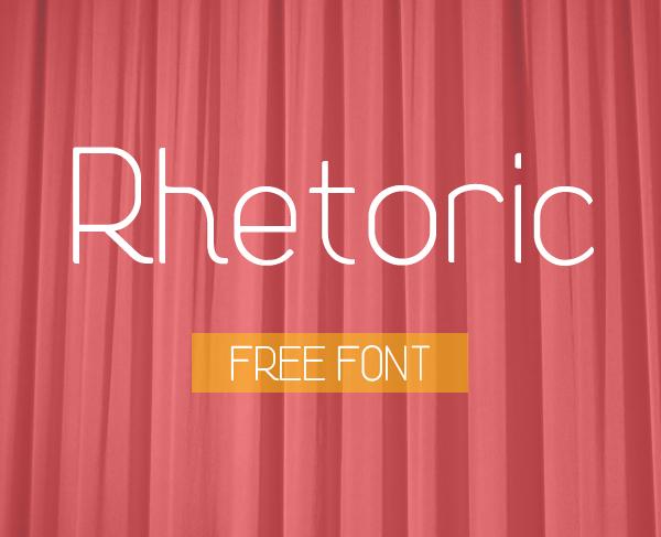 Rhetoric Free Font