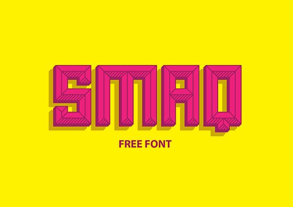 Smaq Free Font