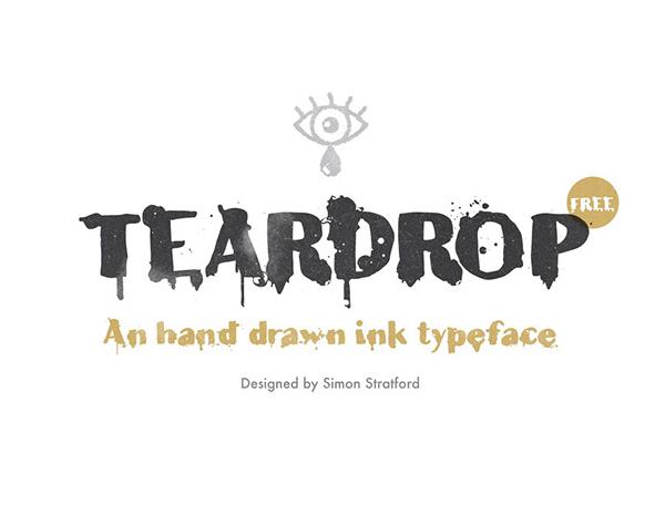 Teardrop Free Font