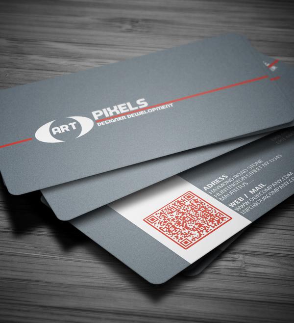 Art Business Card Psd Template