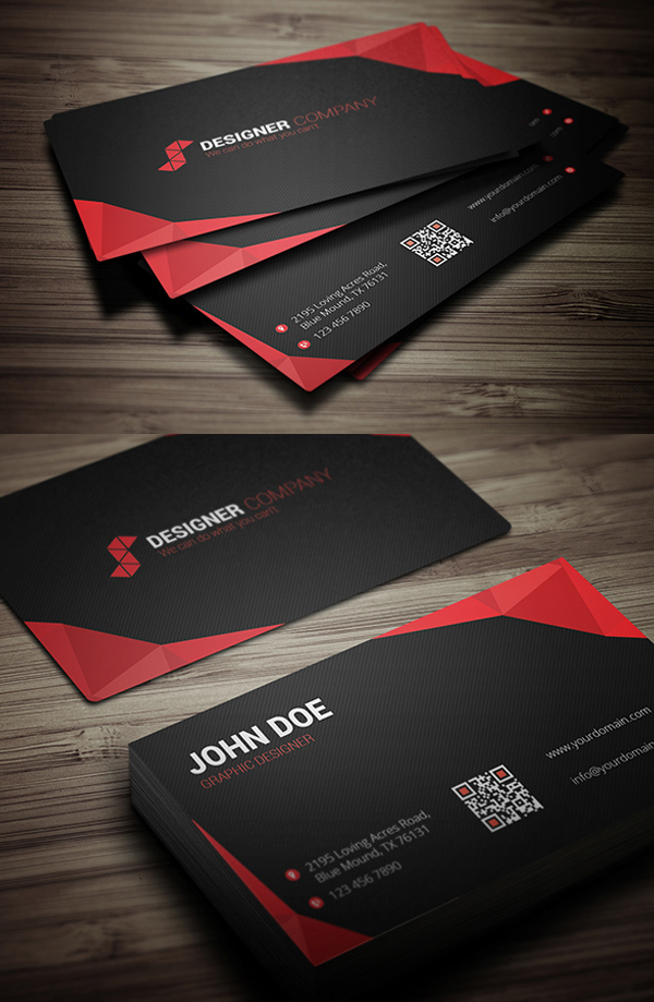 Modern Coprorate Business Card PSD Template