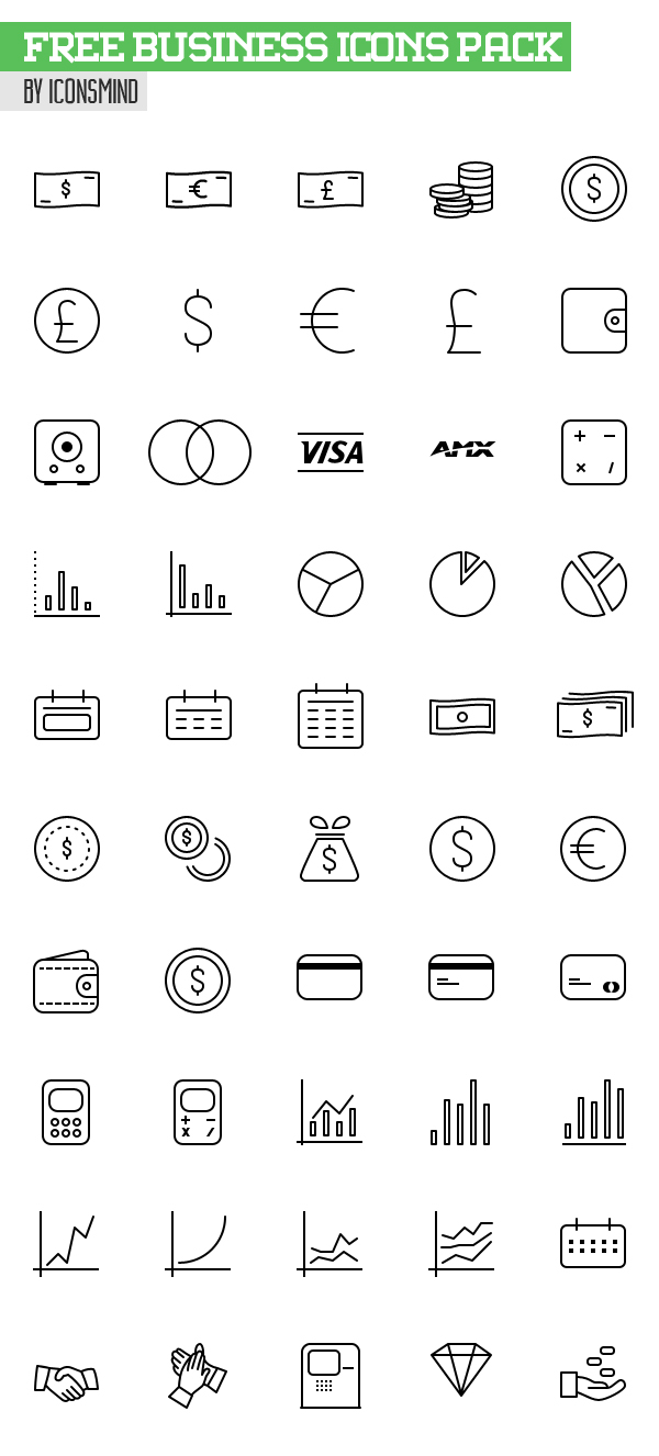 Free Business Icons Pack - 50 Icons (AI, PSD, EPS & Sketch)