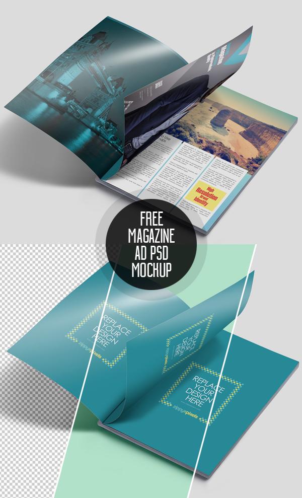 Free Magazine Ad PSD Mockup
