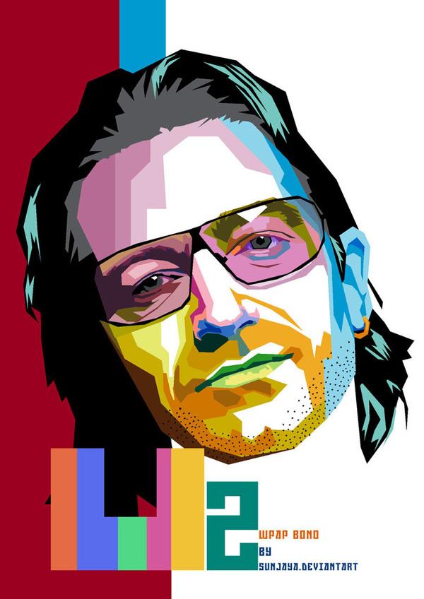 Bono U2 WPAP by sunjaya