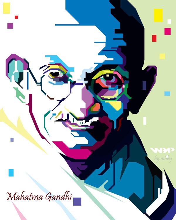 Mahatma Gandhi WPAP by mbleg25