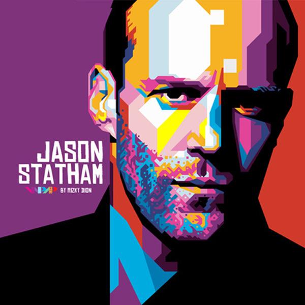 Jason Statham WPAP by Rizki Dion