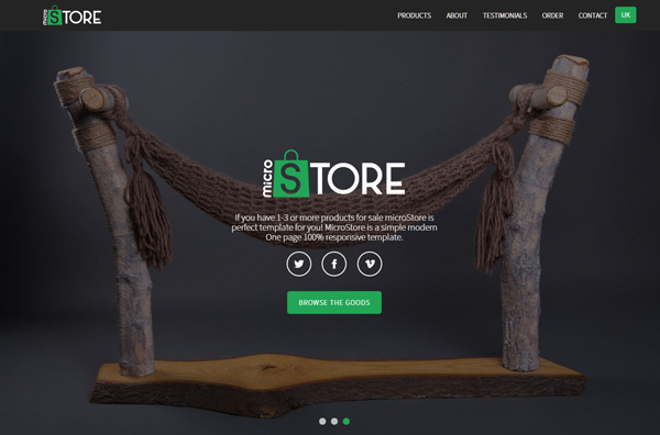 One Page Websites – 42 New Web Examples - 33