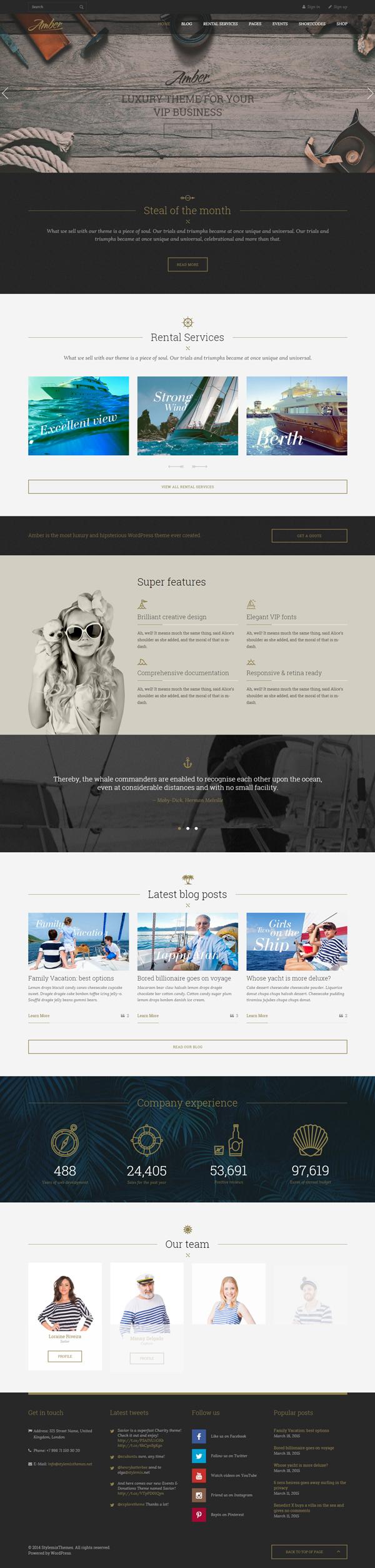 Amber - Luxury Business WordPress Theme