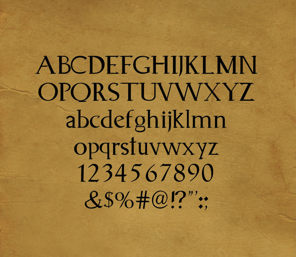 Animagus font letters