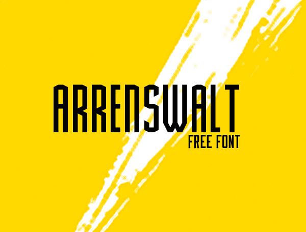 Arrenswalt free font