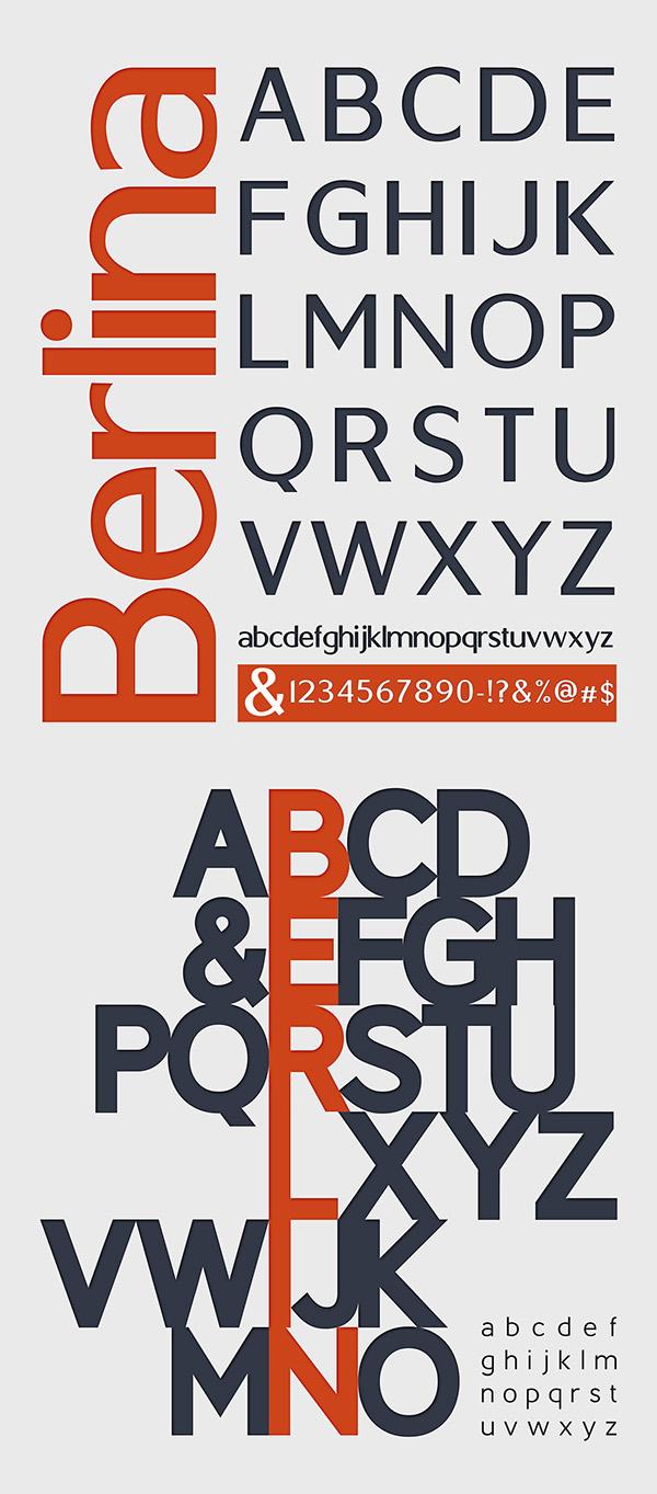 Berlin font letters