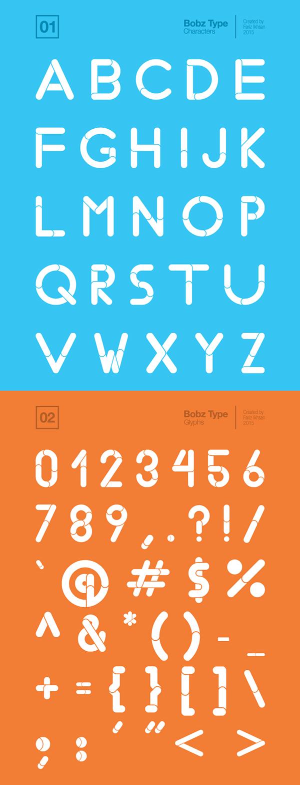 Bobz Type Font Letters