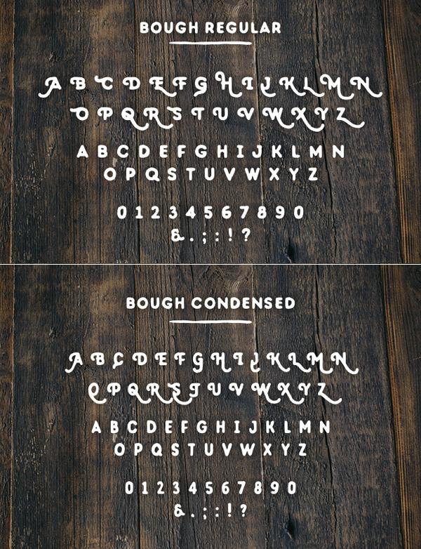 Bough Font Letters